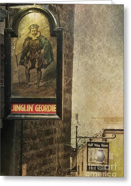 Jinglin' Geordie Greeting Card by Marion Galt