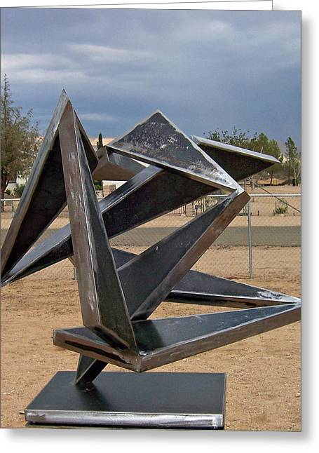 Abstract Movement Sculptures Greeting Cards - Jitterbug Greeting Card by John Neumann