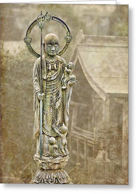 Karen Walzer Greeting Cards - Jizo Greeting Card by Karen Walzer