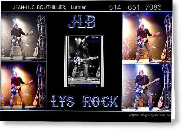 Guitare Greeting Cards - JLB LYS ROCK Poster Greeting Card by Danielle  Parent