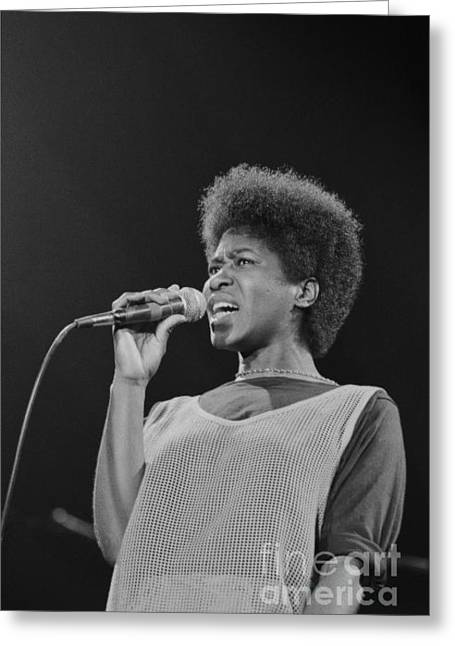 Jazz Greeting Cards - Joan Armatrading 2 Greeting Card by Philippe Taka