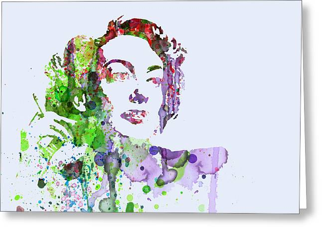 Golden Age Greeting Cards - Joan Crawford Greeting Card by Naxart Studio