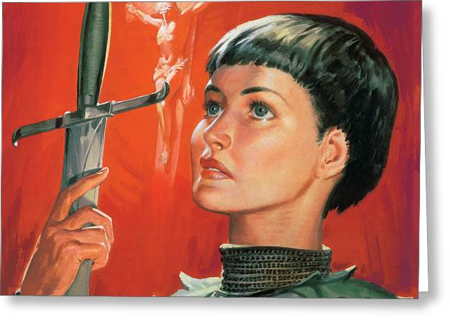 Joan of Arc Greeting Card by James Edwin McConnell