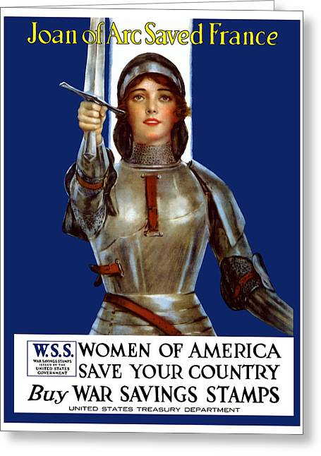 Arc Greeting Cards - Joan of Arc Saved France Greeting Card by War Is Hell Store