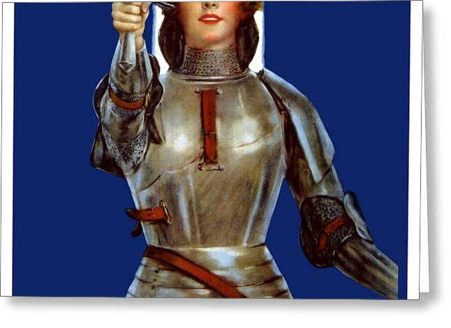 Joan of Arc Saved France Greeting Card by War Is Hell Store