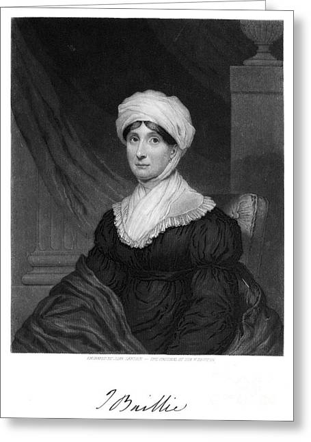 Autograph Greeting Cards - Joanna Baillie (1762-1851) Greeting Card by Granger