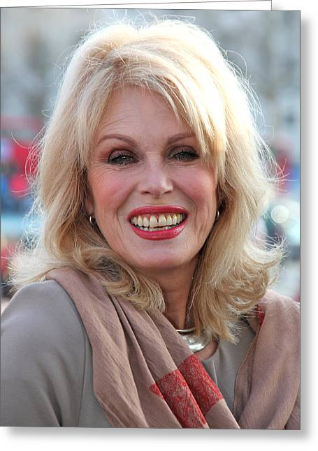 Jeremy Greeting Cards - Joanna Lumley 3 Greeting Card by Jez C Self