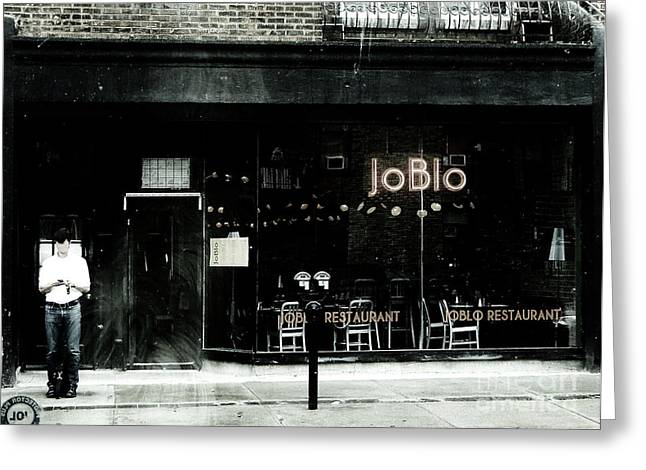 Restos Greeting Cards - JoBlo Greeting Card by Reb Frost