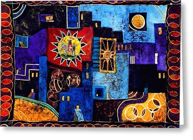 India Tapestries - Textiles Greeting Cards - Jodhpur Greeting Card by Sandra Kern