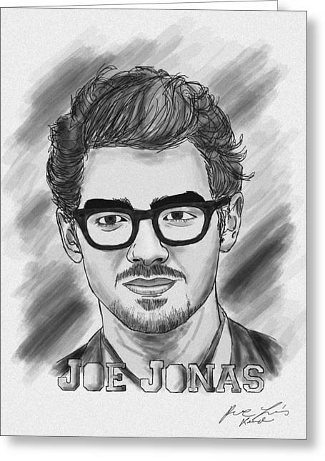 Recently Sold -  - Kenal Louis Greeting Cards - Joe Jonas Drawing Greeting Card by Kenal Louis