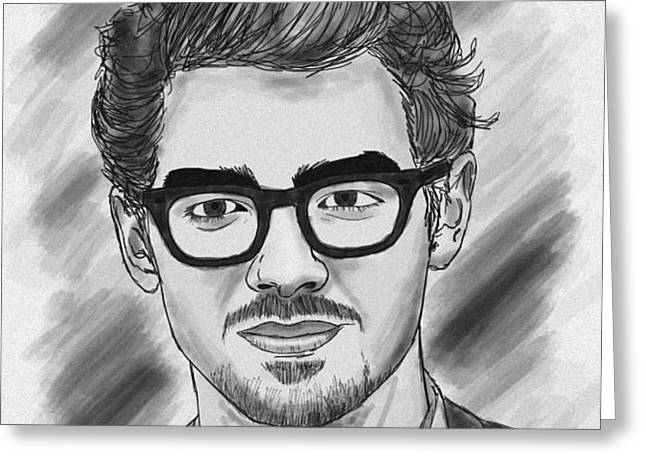 Joe Jonas Drawing Greeting Card by Kenal Louis