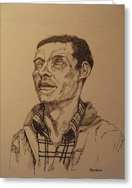 Tribute Drawings Greeting Cards - Joe Greeting Card by Ray Agius