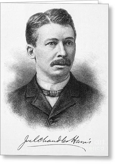 Autograph Greeting Cards - Joel Chandler Harris Greeting Card by Granger