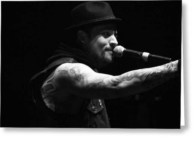 Charlotte Digital Art Greeting Cards - Joel Madden Greeting Card by Katie Mann