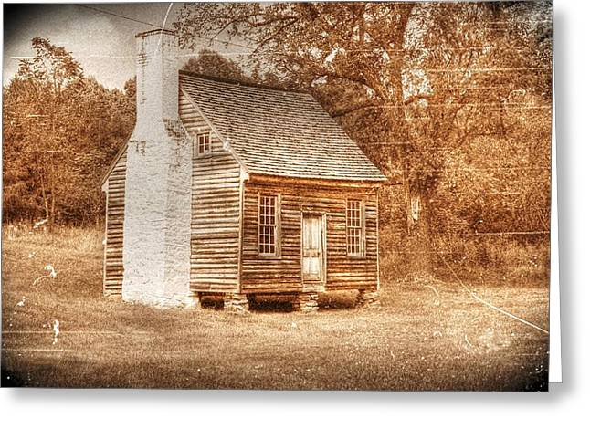 Blackface Greeting Cards - Joel Sweeney cabin Greeting Card by Dan Stone
