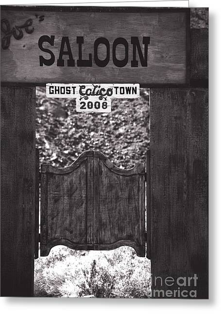 Saloons Greeting Cards - Joes Saloon in Calico Ghost Town California Greeting Card by Susanne Van Hulst