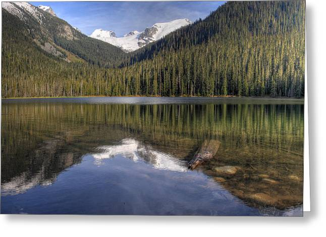 Hdr Landscape Greeting Cards - Joffre Lake Lower B.C Canada Greeting Card by Pierre Leclerc Photography