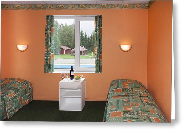 Photography Of Wine Bottles Greeting Cards - Jogeva County A Bedroom With Two Beds Greeting Card by Jaak Nilson