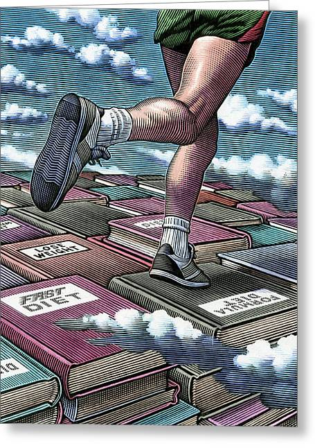 Jogging Greeting Cards - Jogging To Lose Weight Greeting Card by Bill Sanderson