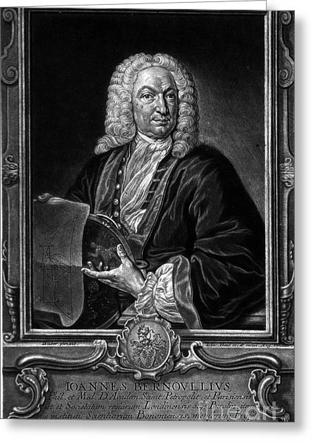 Perpetual Motion Greeting Cards - Johann Bernoulli, Swiss Mathematician Greeting Card by Science Source