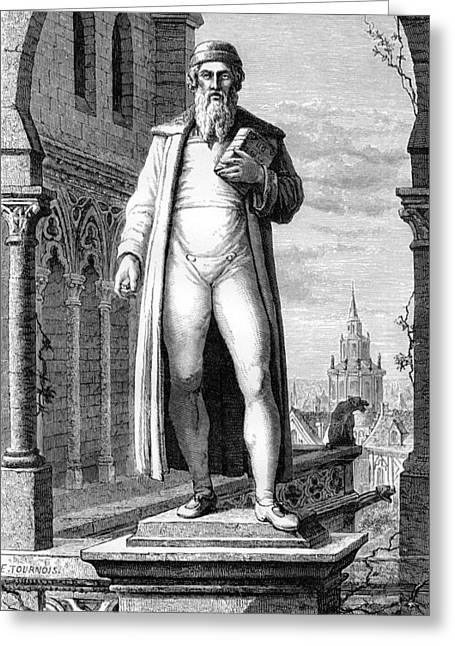 Statue Portrait Photographs Greeting Cards - Johann Gutenberg, German Inventor Greeting Card by
