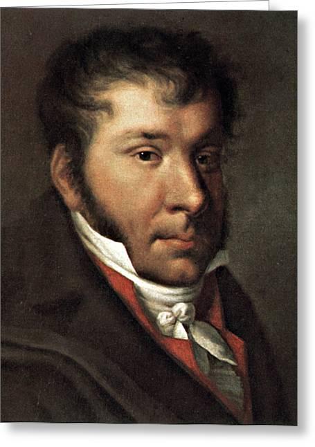 Sideburns Greeting Cards - Johann Hummel (1778-1837) Greeting Card by Granger