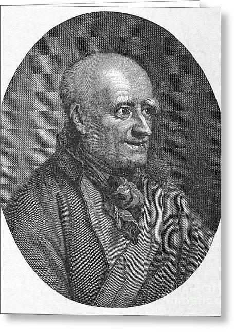 Graff Greeting Cards - Johann Jakob Bodmer (1698-1783) Greeting Card by Granger