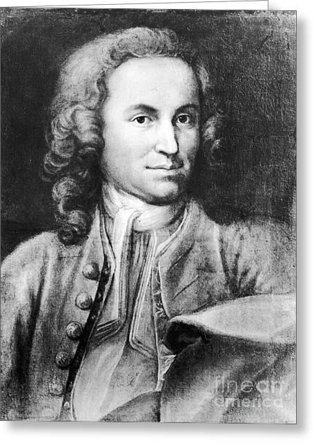 Technical Photographs Greeting Cards - Johann Sebastian Bach, German Baroque Greeting Card by Science Source