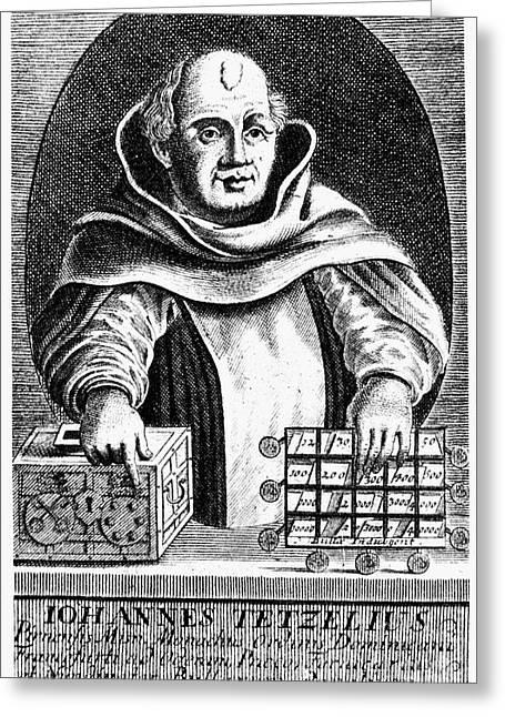 Cassocks Greeting Cards - Johann Tetzel (1465-1519) Greeting Card by Granger