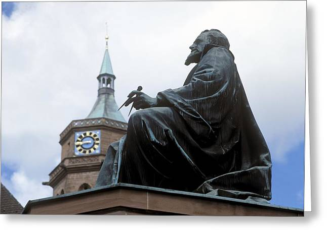 Statue Portrait Greeting Cards - Johannes Kepler Monument, Germany Greeting Card by Detlev Van Ravenswaay