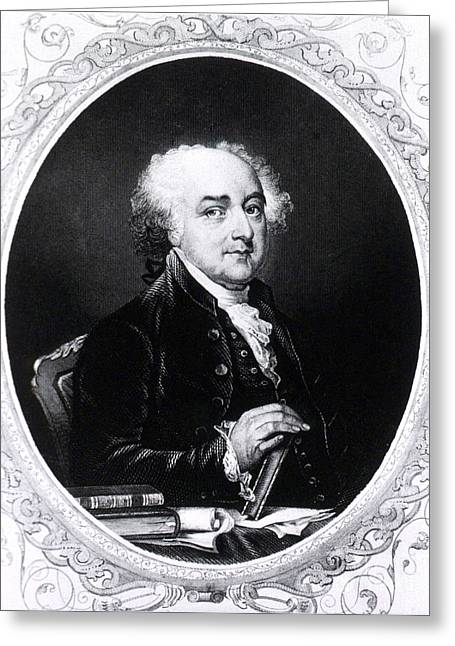 18th Century Greeting Cards - John Adams, 2nd American President Greeting Card by Photo Researchers