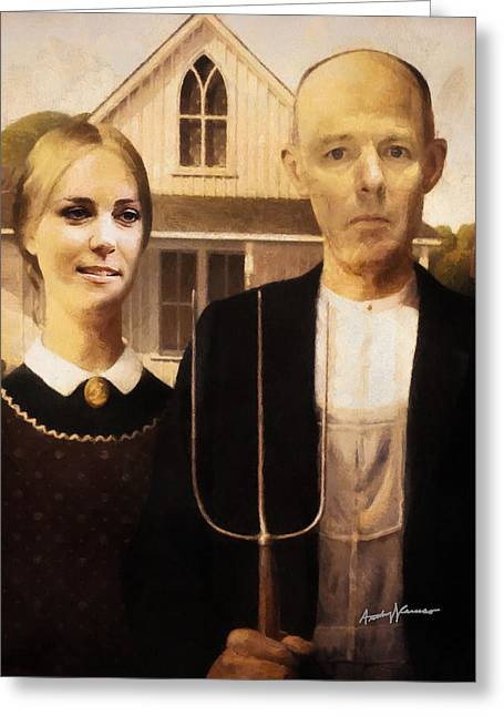 Reality Mixed Media Greeting Cards - John and Kate Plus Eight Greeting Card by Anthony Caruso