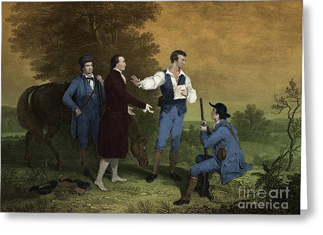 Famous People Photographs Greeting Cards - John Andre Captured Greeting Card by Photo Researchers
