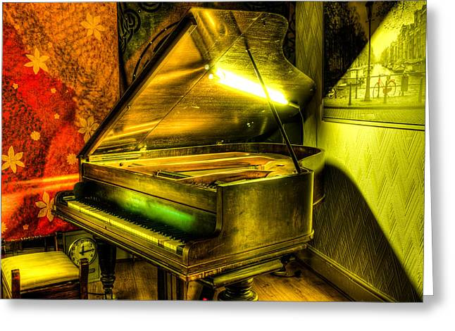 White Chopin Greeting Cards - John Broadwood and Sons Grand Piano Greeting Card by Semmick Photo