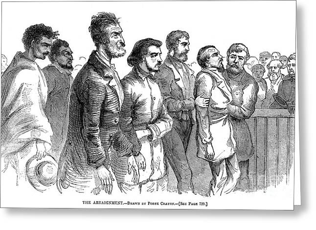 Abolition Greeting Cards - John Brown Trial, 1859 Greeting Card by Granger