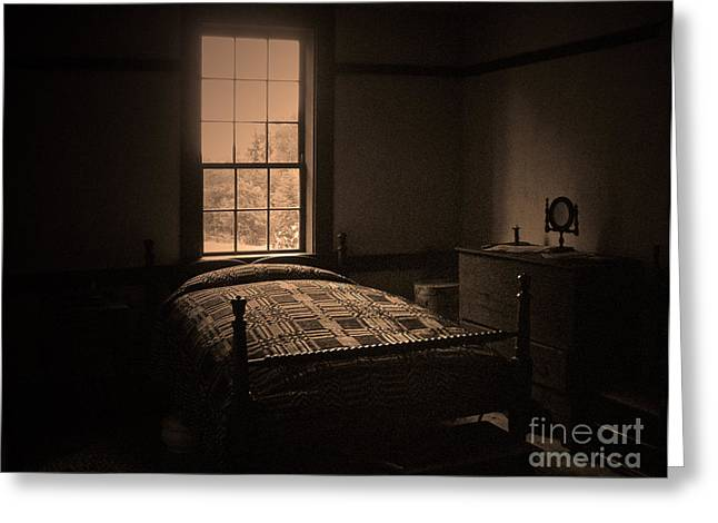 Harpers Ferry Greeting Cards - John Browns Bed Greeting Card by C E Dyer