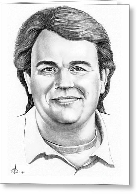 Candy Drawings Greeting Cards - John Candy Greeting Card by Murphy Elliott