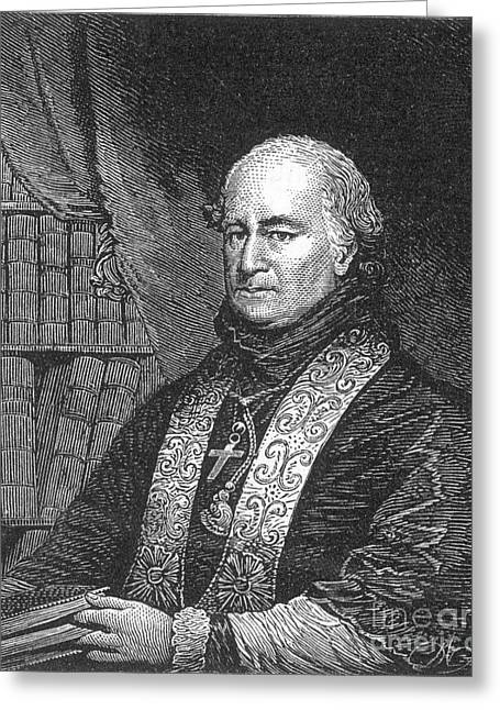 Ecclesiastics Greeting Cards - John Carroll (1735-1815) Greeting Card by Granger