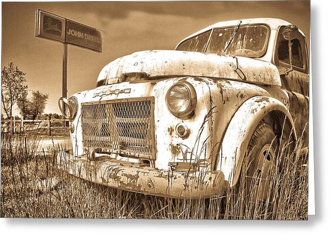 Horse And Buggy Greeting Cards - John Deere Hauler Greeting Card by Steve McKinzie