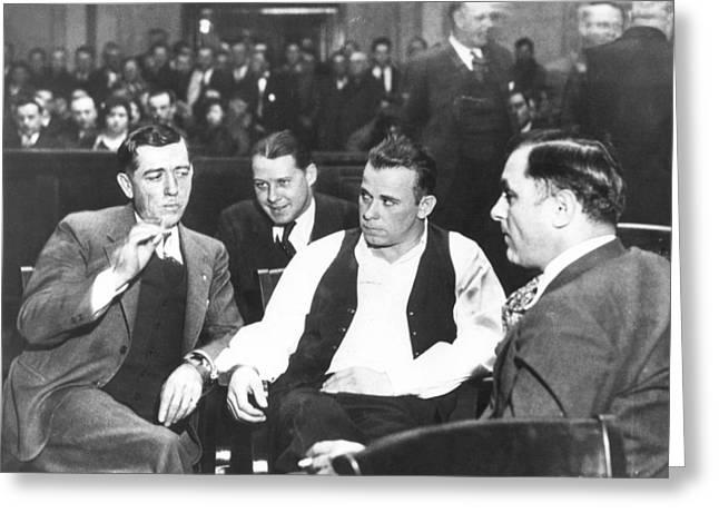 John Jr. Greeting Cards - John Dillinger 1903-1934 Greeting Card by Granger