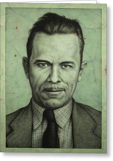 Public Greeting Cards - John Dillinger Greeting Card by James W Johnson