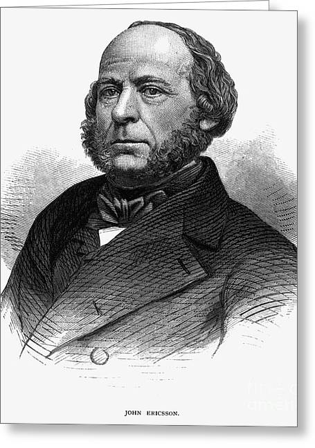 Sideburns Greeting Cards - John Ericsson (1803-1889) Greeting Card by Granger