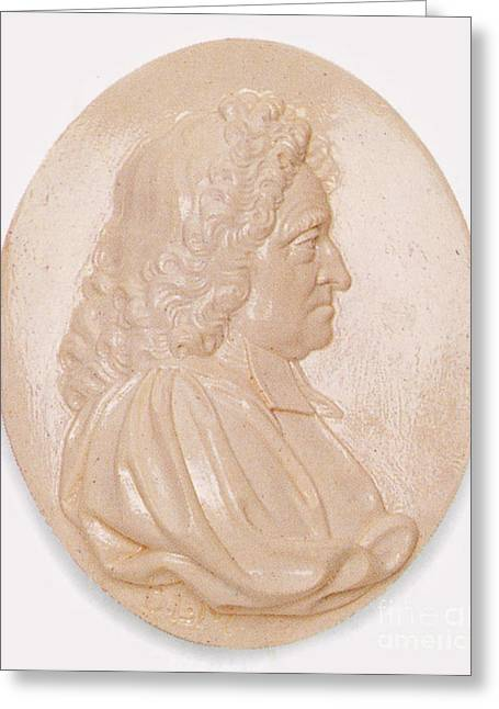 Numerical Greeting Cards - John Flamsteed, English Astronomer Greeting Card by Science Source