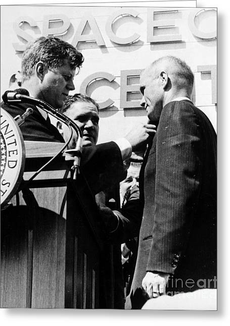 Senator Kennedy Greeting Cards - John Glenn (1921- ) Greeting Card by Granger