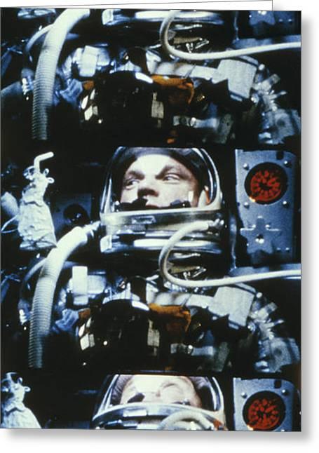 Image Collection Book Greeting Cards - John H. Glenn, Jr. Circling Earth, 5 Greeting Card by Nasa