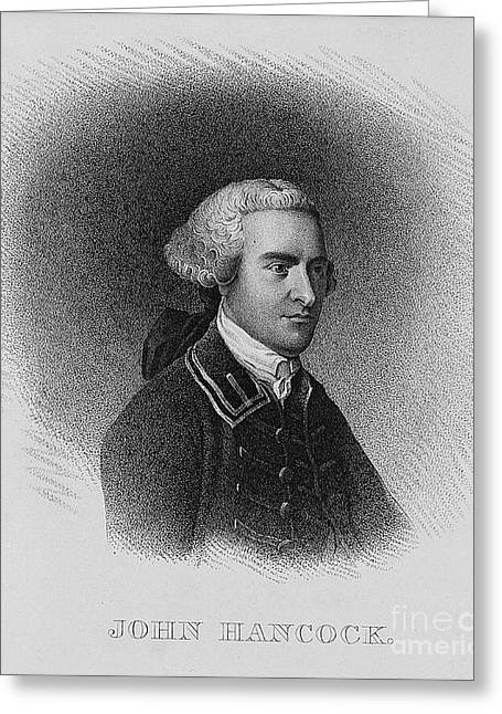 Second Continental Congress Greeting Cards - John Hancock, American Patriot Greeting Card by Photo Researchers