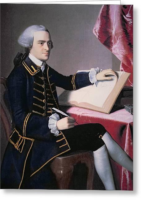 Declaration Of Independence Paintings Greeting Cards - John Hancock Greeting Card by John Singleton Copley