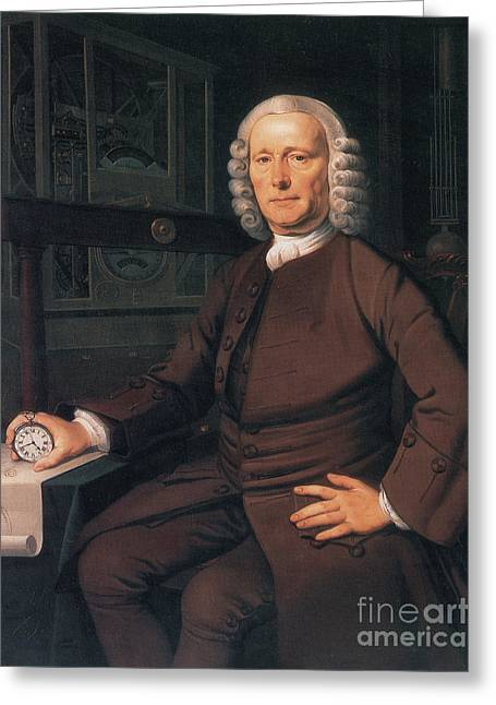 Self Discovery Greeting Cards - John Harrison, English Inventor Greeting Card by Photo Researchers
