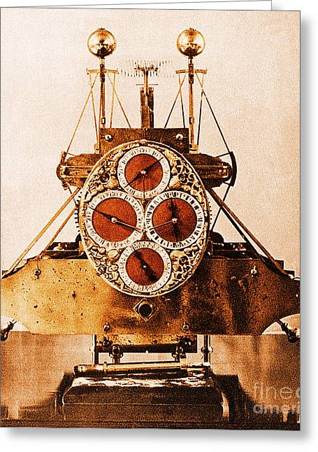 John Harrisons First Sea Clock Greeting Card by Photo Researchers