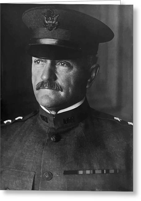 Wwi Digital Art Greeting Cards - John J. Pershing Greeting Card by War Is Hell Store